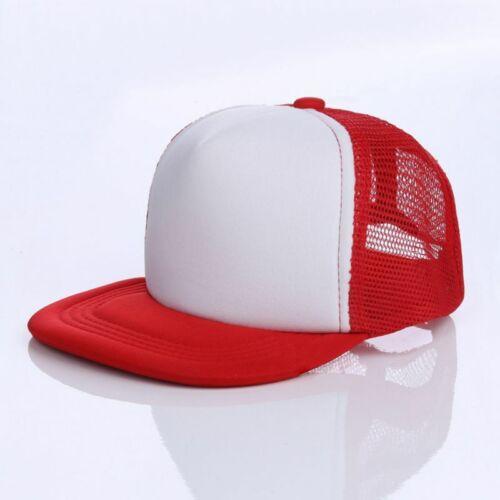 UK Baseball Cap Trucker Hat Blank Curved Mesh Adjustable Plain Color Hunting Cap