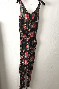 5f9bd9189b72 Image is loading Womens-DIVIDED-H-M-Jumpsuit-Pants-Romper-Floral-Flowers-