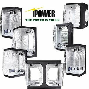 Image is loading iPower-Hydroponic-Water-Resistant-Grow-Tent-with-Removable-  sc 1 st  eBay & iPower Hydroponic Water-Resistant Grow Tent with Removable Floor ...