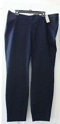 J Crew Maternity Minnie Navy Blue Cropped Pants Elastic Sides Cotton Womens Sz 6 Ebay