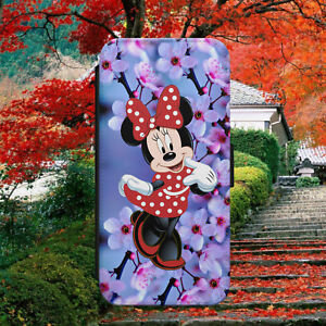 DISNEY-MINNIE-MOUSE-CUTE-FLIP-WALLET-PHONE-CASE-COVER-FOR-IPHONE-SAMSUNG-HUAWEI