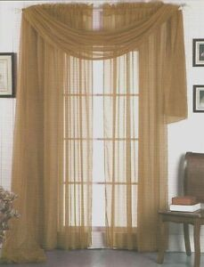 Image Is Loading SET OF 2 SHEER VOILE CURTAINS 84 034