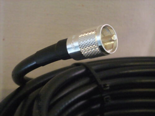 30 ft LMR400 50 Ohm  Times Microwave Coaxial  Cable PL259 to N male LMR400 30 Ft