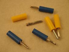 VON 10  6 Stk. Laborstecker (3xgelb + 3xblau), Hirschmann