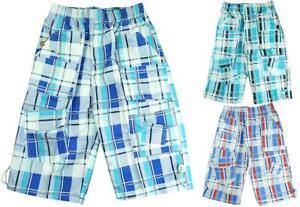 Boys-Shorts-2019-Modern-Checked-Combat-Pocket-Summer-Board-Short-3-to-12-Years