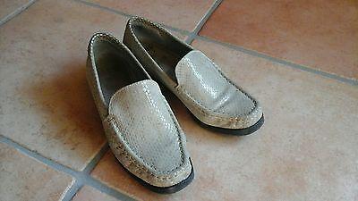 JENNY BY ARA Schuhe Damenschuhe Halbschuhe,Mokkasin,Gr.5,5 Echtleder,beige