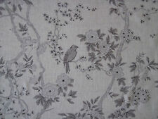 "RALPH LAUREN CURTAIN FABRIC ""Marlowe Floral Sheer"" 3.65 METRES DOVE VOILE(365 cm"