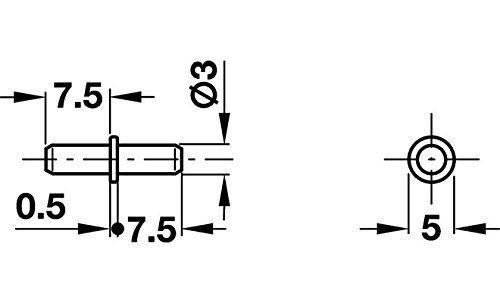 12 Stück Bodentraeger Stahl verzinkt 3 mm Bodenträger 282.43.914*12