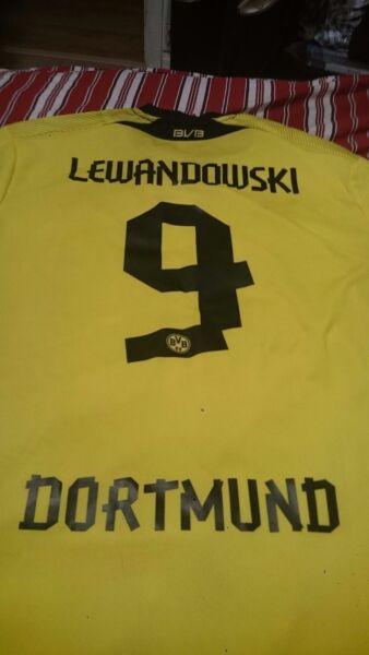online retailer a7319 493d5 Authentic* Lewandowski Borussia Dortmund Home 13-14 XL ...