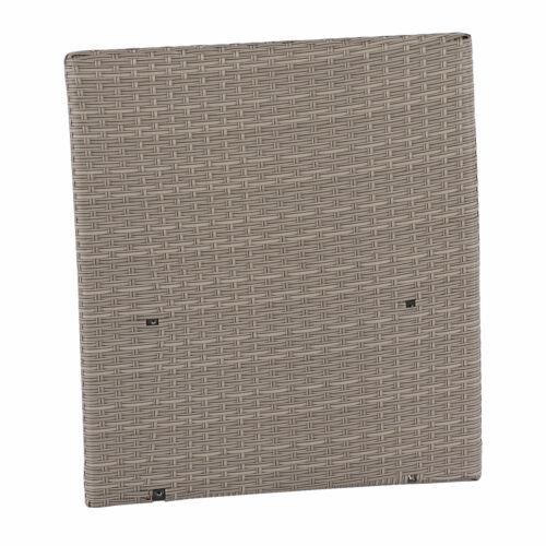 1x Seitenteil Poly-Rattan Sofa Sevilla modulare Gastronomie-Qualität grau
