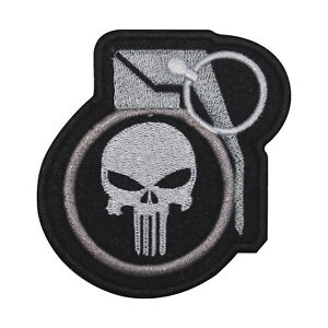 Punisher Grenade Logo Patch Iron On Sew On Badge Embroidered Patch