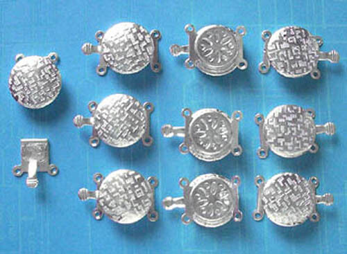 10 x 2-string SP push-in clasps, findings for jewellery making crafts
