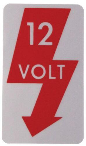 """Sticker /""""12v/"""" 000009001"""
