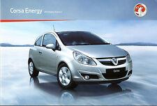 Vauxhall Corsa Energy Limited Edition 2010-11 UK Market Sales Brochure