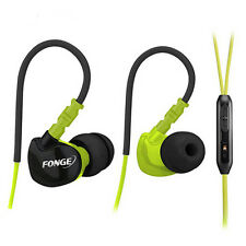 Waterproof Earphones In Ear Earbuds HIFI Sport Headphones Bass Headset With Mic