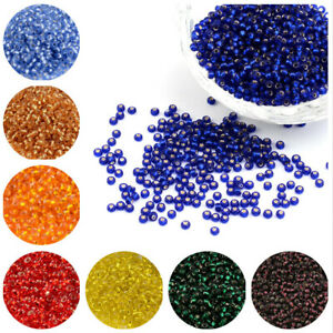 50g-Transparent-Glass-Seed-Beads-Silver-Lined-Round-Bracelet-DIY-Finding-Charms