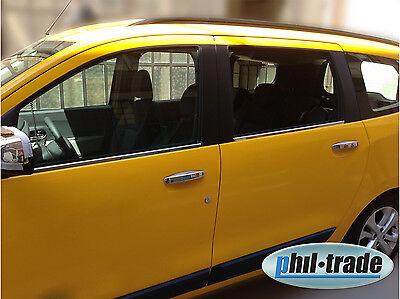 Chrom Türgriffe Blenden Dacia Lodgy 4 Türen Edelstahl