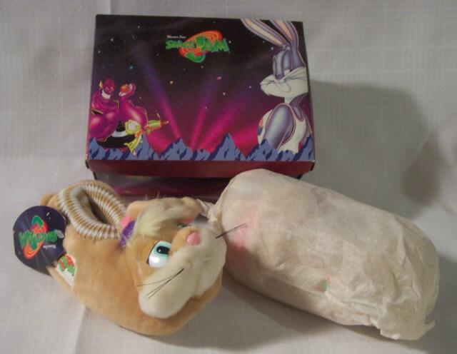 f916d67145c2 WB Looney Tunes SPACE JAM Basketball Kids LOLA BUNNY SLIPPERS Size L 9-10  NEW