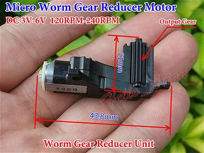 DC 3V 5V 6V 240RPM Mini Worm Gear Motor Gearbox Reduction Wheel DIY Car Robot