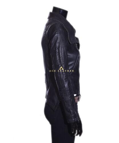 zwart dames Anita Crunch jasje echt lamsvacht bikerstijl retro 6AqzOwq