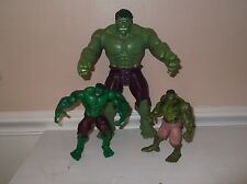 3 Incredible HULK Titan Marvel Avengers 2003 2007 2013 action figures boys toys
