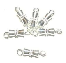 M753f Silver-Finished Brass 8mm Screw Barrel Clasp Jewelry Component 10/pkg