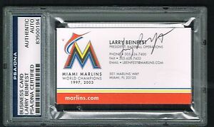 Larry Beinfest Signed Autograph Business Card Miami Marlins