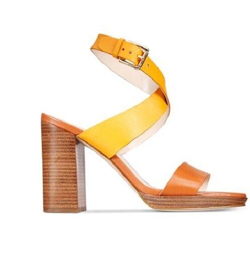NIB NIB NIB Cole Haan Donna  Fenley Heeled Leather Sandals in Sunglow W07093 e517d2