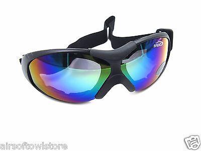 438 Airsoft Goggles FALANT FL8008 Cycling Anti Wind Dust Laser Lens AEG Sport