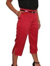 f244ab8e5ec69 item 4 NEW Smart Crop Trousers Matt Satin Evening Easy Fit With Belt 8-22  -NEW Smart Crop Trousers Matt Satin Evening Easy Fit With Belt 8-22