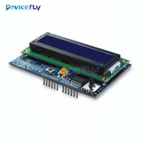 Brightness Adjustable 1602 LCD Shiled IIC MCP23017 5 keypad For Arduino UNO R3