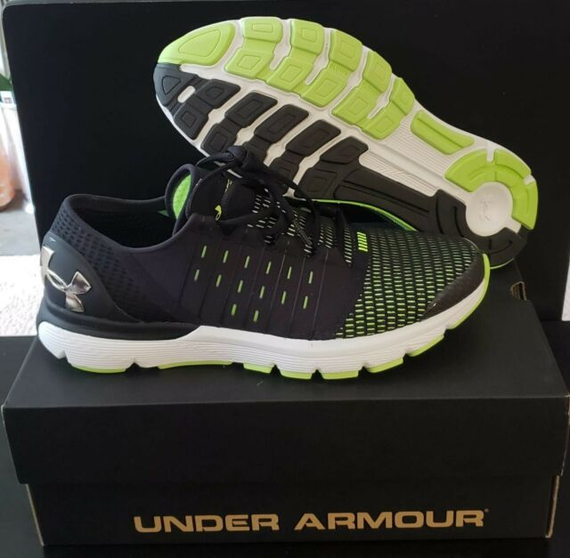 c3a99aa2db Men's Under Armour Speedform Europa Running Shoes, Black & Lime, 9(2E)