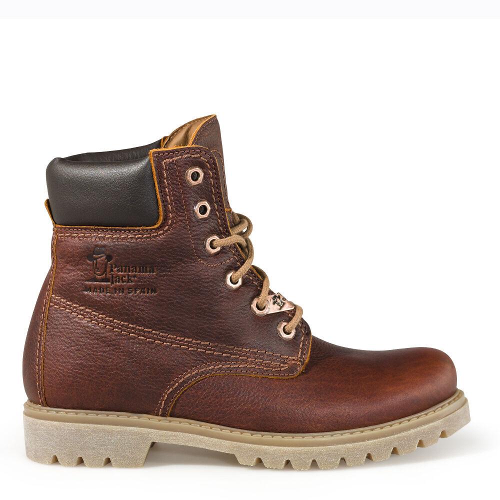 Panama Jack zapatos señora zapatos botín Boots marrón de cuero waterproof forraje