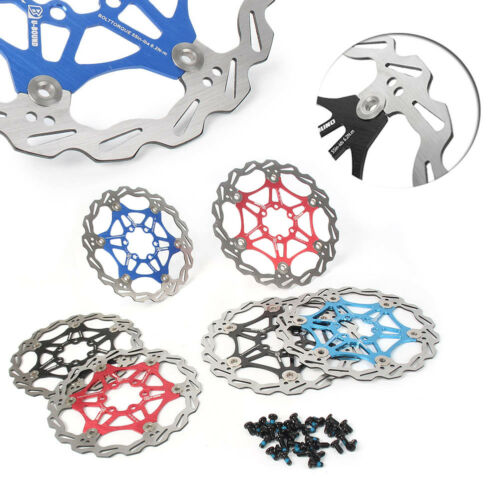 1x MTB Mountain Bike Bicycle Brake Disc Floating Rotors 160mm 180mm w// 6 Bolts