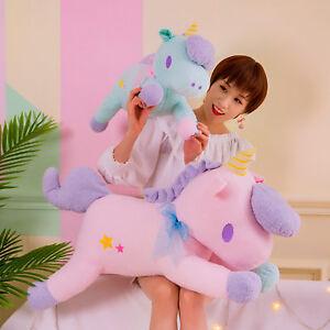Womens Kids Soft Giant Plush Jumbo Large Unicorn Toys Stuffed Animal ... 8a6e219de4