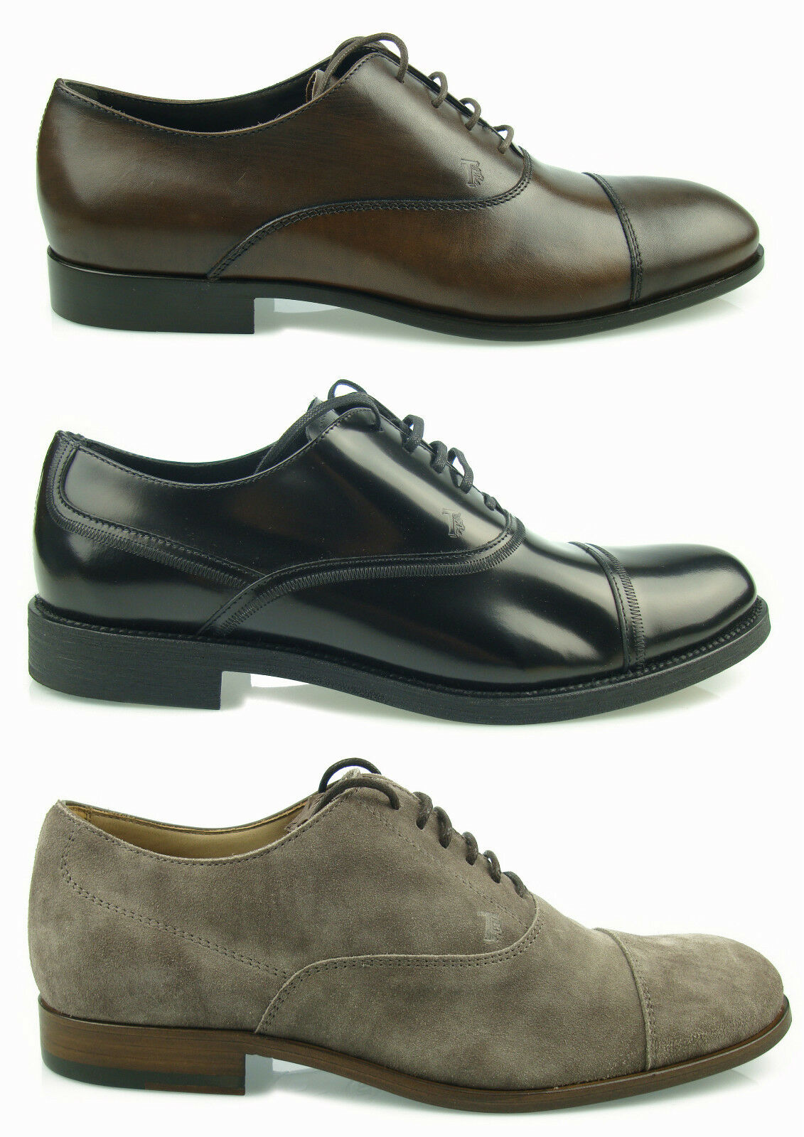 TOD'S shoes men FRANCESINE MEN SHOES HERRENSHUHE LEATHER NUOVE 100% AUTENTICHE