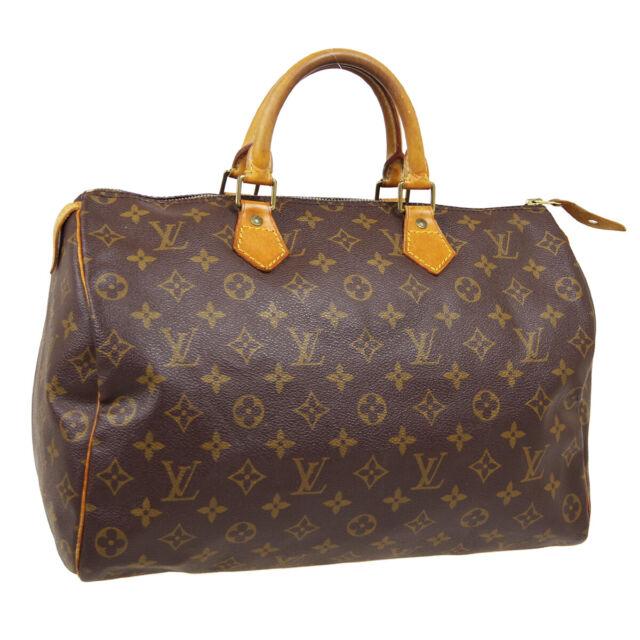 LOUIS VUITTON SPEEDY 35 HAND BAG SP0924 PURSE MONOGRAM VINTAGE M41524 AUTH 31815