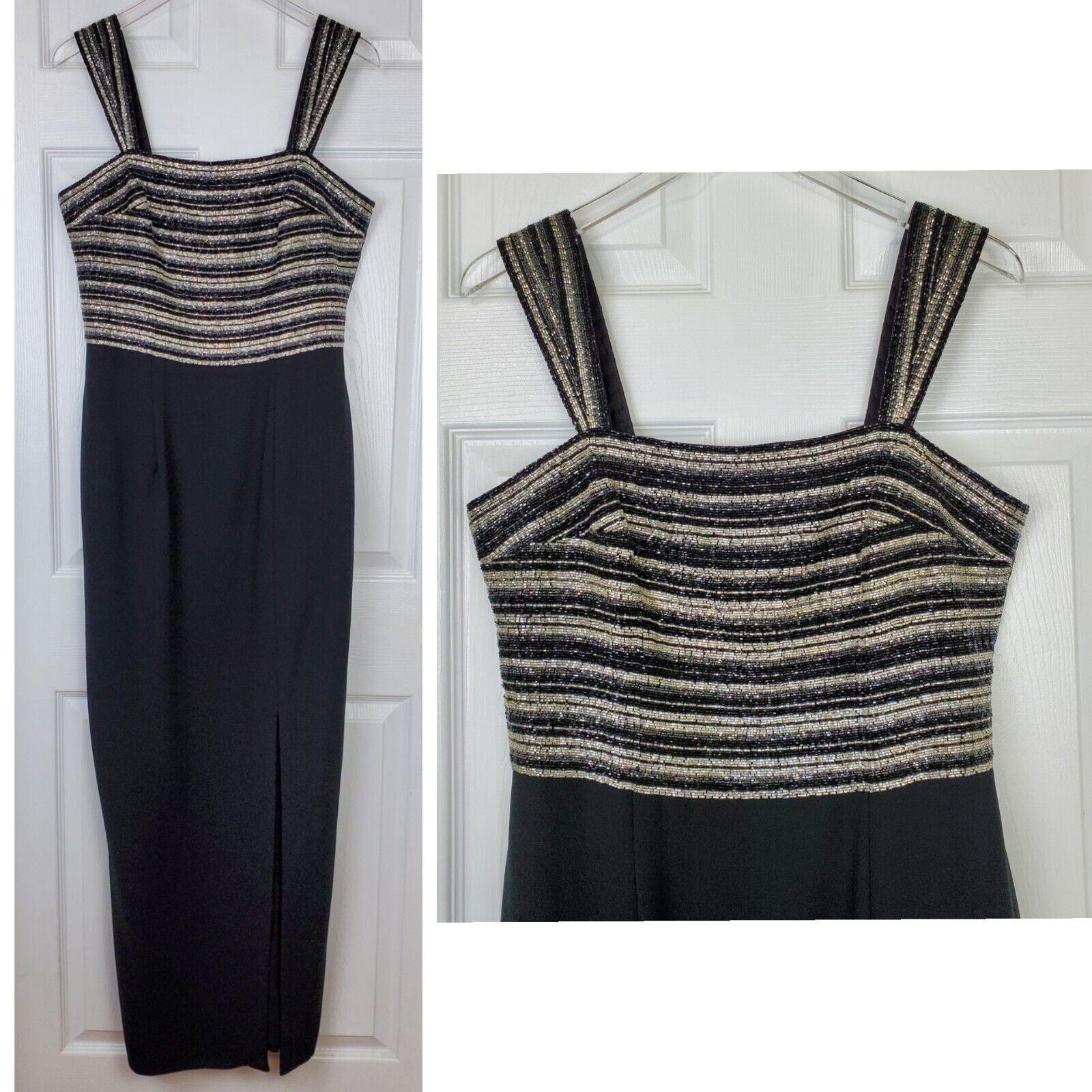 Montage mon cheri size 12 black sleeveless beaded dress