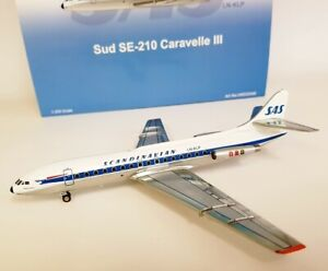 Inflight 200 Ifclev2048 1/200 Sas Se 210 Caravelle Ln-klp Avec support Exclusif Edn