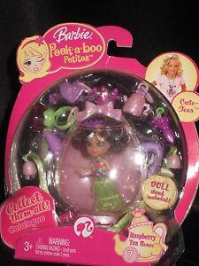 2008 Barbie Peek A Boo Petites 2 5 Doll Raspberry Tea Renee 7 Fun