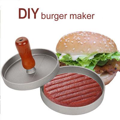Kitchen Hamburger Meat Beef Maker Grill Burger Patty Press Mould Mold Tool W7Z3