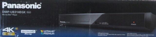 Panasonic DMP-UB314EGK Ultra HD Blu-ray-Player 4K HDR Pro WLAN schwarz (B5242)