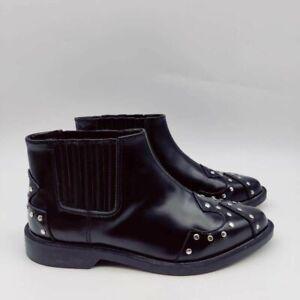 T.u.k. Jam Chelsea Ankle Boots- Unisex- M 9/W 11- Black Leather Pull On Studded