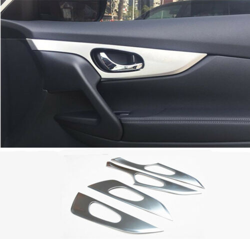 4pcs Inner Door Handle Bowl Panel Cover Trim Bezel For Nissan Rogue 2014-2018