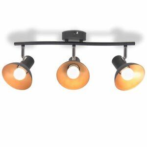 vidaXL-Ceiling-Lamp-3-Bulbs-E27-Black-and-Gold-Luminaire-Spot-Lamp-Lighting