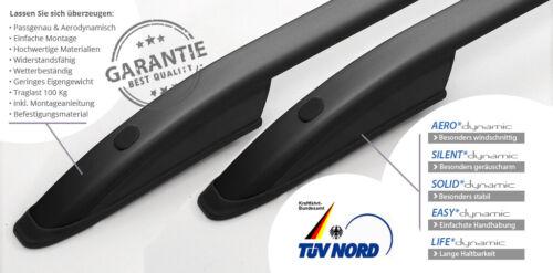 2003-Portapacchi Nero TÜV ABE SWB TETTO parapetto adatto per VW t5//VW t6 l1