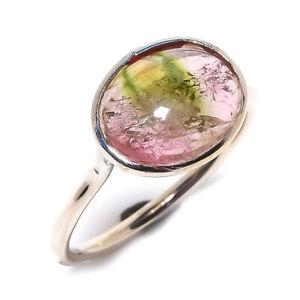 Multi Stones Ring Multi Tourmaline Ring Multi Colour Stone Ring Natural Tourmaline Ring 92.5 Sterling Silver Ring Pink Silver Ring
