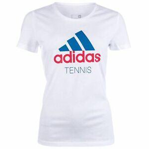 Alerte Adidas Tennis T-shirt Femme Blanc Top Tee Shirt T-shirt Shirt Sportwear-afficher Le Titre D'origine Le Plus Grand Confort
