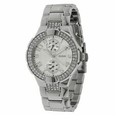 Guess U12003L1 Women's Crystal Silver Dial Steel Bracelet Watch