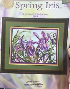 Spring-Iris-Counted-Cross-Stitch-Chart-Pattern-Rare-Cross-My-Heart-Csb-302